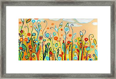 Sweet Peas And Poppies Framed Print by Jennifer Lommers