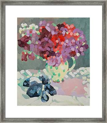 Sweet Peas And Seashells Framed Print