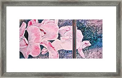 Sweet Peas Framed Print by Carolyn Rosenberger