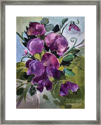 Sweet Peas Framed Print