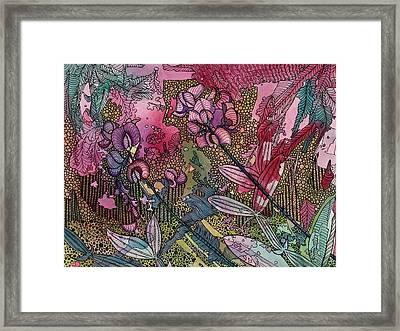 Sweet Peas In Bloom Framed Print