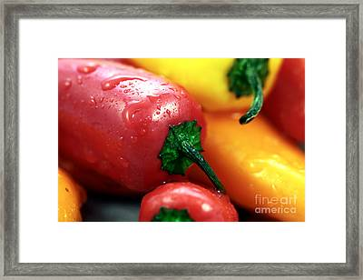 Sweet Peppers Framed Print by John Rizzuto