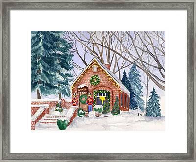 Sweet Pierre's Chocolate Shop Framed Print by Rhonda Leonard