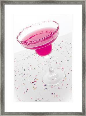 Sweet Pink Cocktail Framed Print