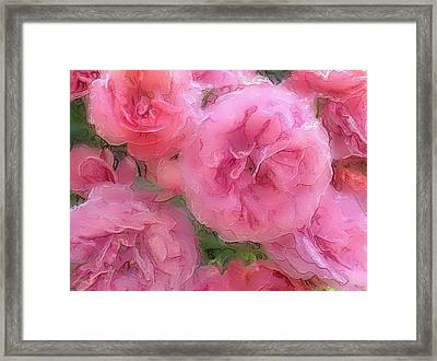Framed Print featuring the mixed media Sweet Pink Roses  by Gabriella Weninger - David