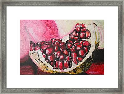 Sweet Pomegranate Framed Print by Michael Amos
