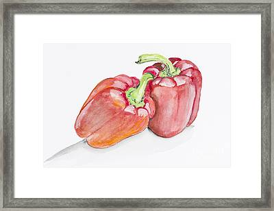 Sweet Red  Paprika Pepper Framed Print by Irina Gromovaja