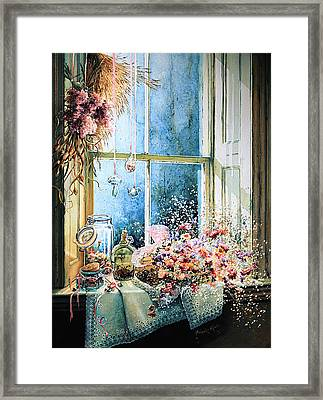 Sweet Scents To Savor Framed Print by Hanne Lore Koehler