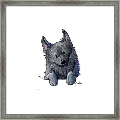 Sweet Schipperke Framed Print by Kim Niles