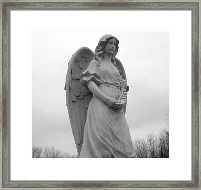 Sweet Seraphim Framed Print by Rachel E Moniz