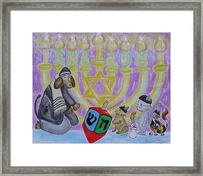 Sweet Shalom Framed Print by Diane Pape