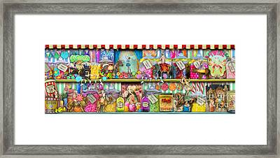 Sweet Shop Panoramic Framed Print by Aimee Stewart