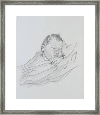 Framed Print featuring the drawing Sweet Sleep 2 by Sharon Schultz