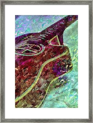 Sweet Sounds 3 Digital Guitar Art By Steven Langston Framed Print by Steven Lebron Langston