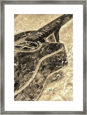 Sweet Sounds Digital Guitar Art By Steven Langston Framed Print by Steven Lebron Langston