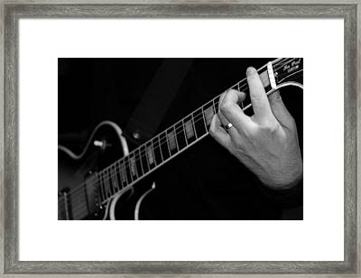 Framed Print featuring the photograph Sweet Sounds In Black And White by John Stuart Webbstock