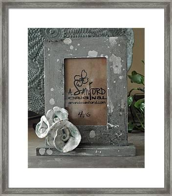 Sweet Sucrose Frame Framed Print by Amanda  Sanford