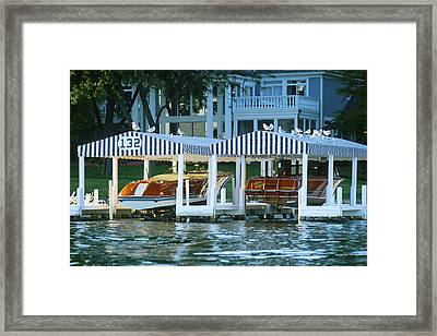 Sweet Tandem - Lake Geneva Wisconsin Framed Print