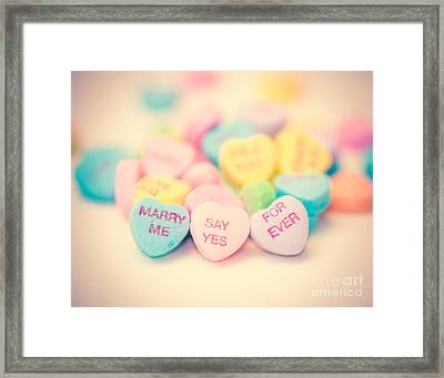 Sweet Tart Heart Framed Print