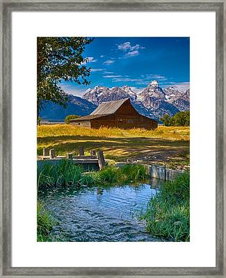 Sweet Teton Morning Framed Print