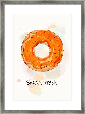 Sweet Treat Orange Framed Print by Jane Rix
