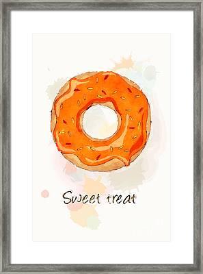Sweet Treat Orange Framed Print by Jane Rix