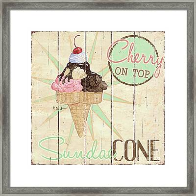 Sweet Treat Signs II Framed Print by Paul Brent