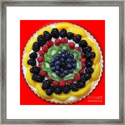 Sweet Treats - Fruit Cake - 5d20920 - Square - Red Framed Print by Wingsdomain Art and Photography