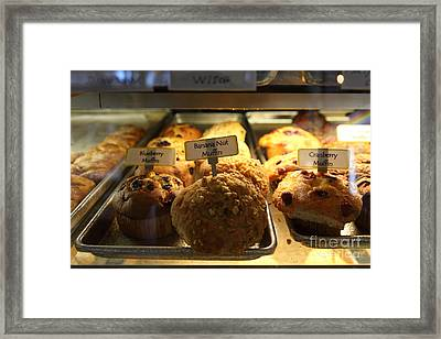Sweet Treats - Muffins - 5d20535 Framed Print by Wingsdomain Art and Photography