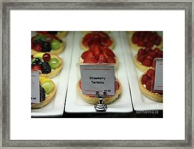 Sweet Treats - Strawberry Tartlette - 5d20705 Framed Print by Wingsdomain Art and Photography