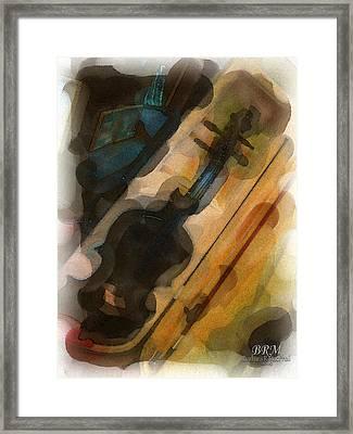 Sweet Violin Framed Print by Barbara R MacPhail