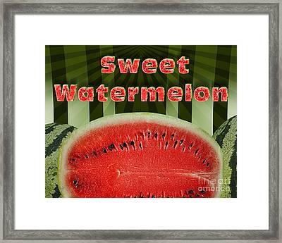 Sweet Watermelon Framed Print