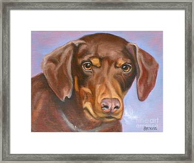 Sweetest Rescue Framed Print by Susan A Becker