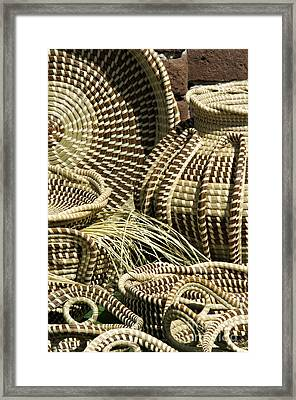 Sweetgrass Baskets - D002362 Framed Print by Daniel Dempster