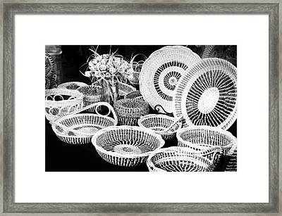 Sweetgrass Baskets Framed Print