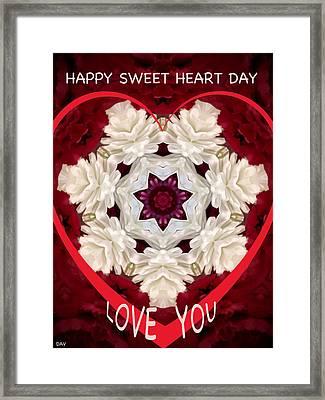 Sweetheart Card Framed Print by Debra     Vatalaro