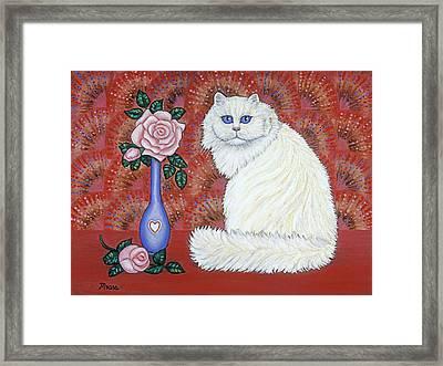 Sweetheart Cat Framed Print
