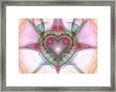Sweetheart Fractal Framed Print