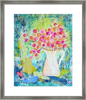 Sweetheart Roses Framed Print by Carla Parris