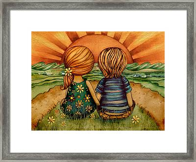 Sweethearts Framed Print by Karin Taylor