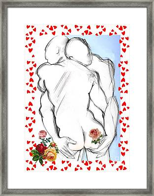 Sweethearts - Valentine's Cards Framed Print