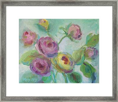 Framed Print featuring the painting Sweetness Floral Painting by Mary Wolf