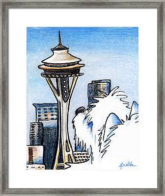 Sweetness In Seattle Framed Print by Kim Niles