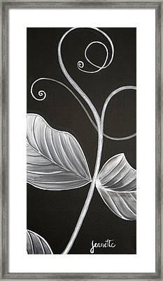 Sweetpea Vine Framed Print