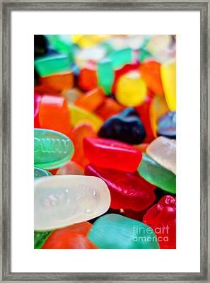 Sweets 01 - Wine Gums Framed Print