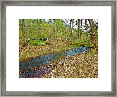 Sweetwater Branch On Mile 363 Of  Natchez Trace Parkway-tennessee  Framed Print by Ruth Hager