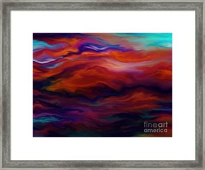 Swept By Volcanic Sky Framed Print by Kyle Wood