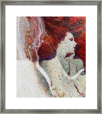 Swept In A Bubbly Dream Framed Print