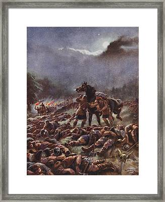 Sweyns Poisoned Army, Illustration Framed Print by Henry A. Payne