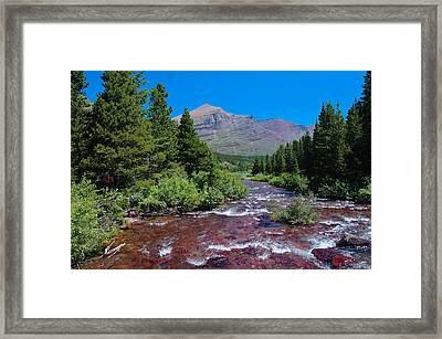 Swift Current River Framed Print by Jeff Swan